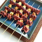 Bacon Wrapped Hawaiian Chicken Skewers