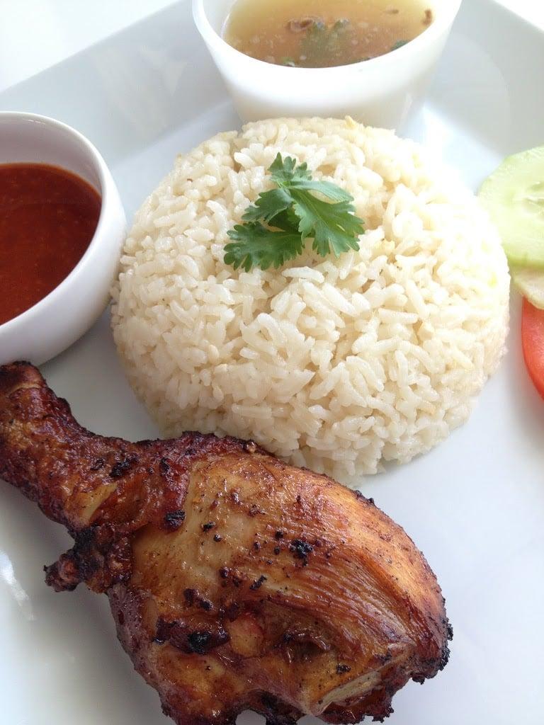 Malay Fried Chicken Rice (Nasi Ayam Goreng Kampung) - The Cooking Jar