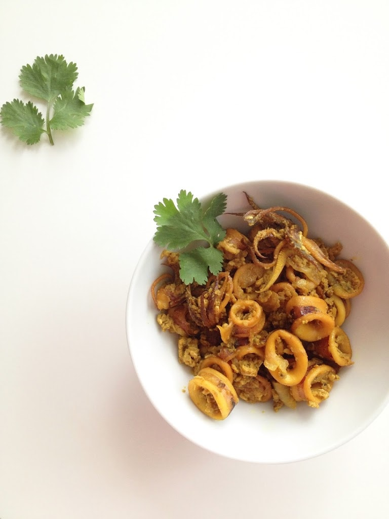 Turmeric Squid Stir-Fry