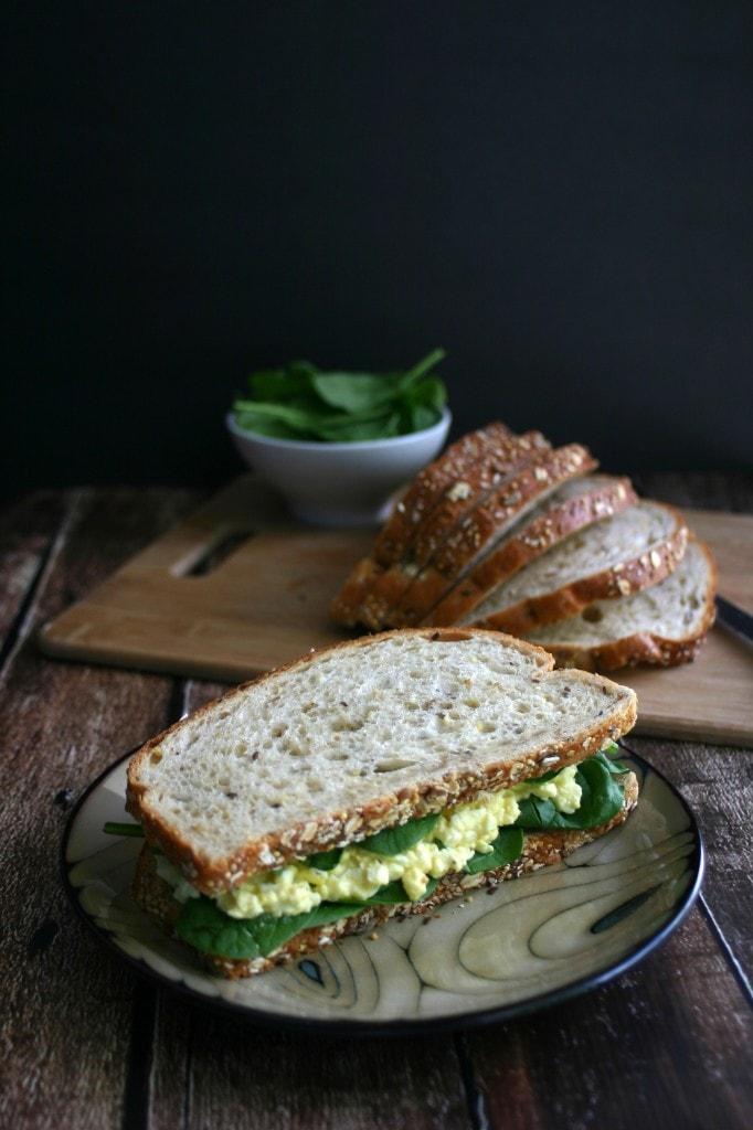 Sloppy Egg Salad Sandwich