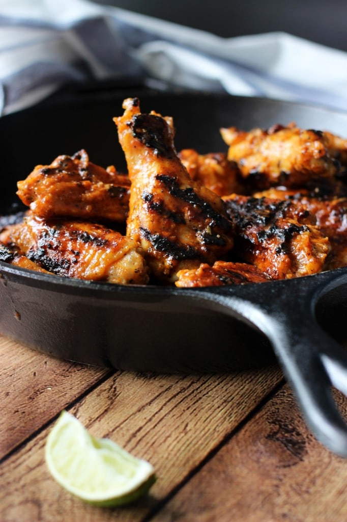 Grilled Sriracha Hot Wings - The Cooking Jar