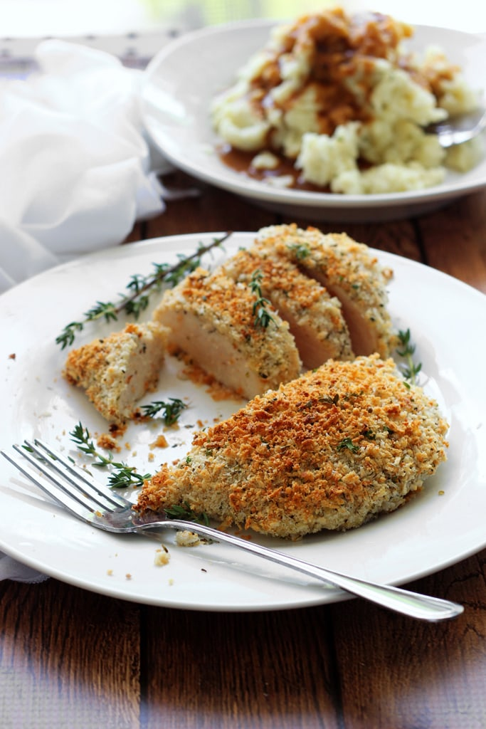 Baked Herb-Crusted Chicken Breast Recipe — Dishmaps