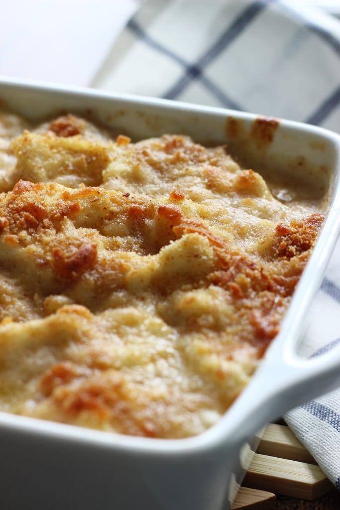 cheesy, creamy cauliflower Au Gratin casserole with rich Bechamel ...
