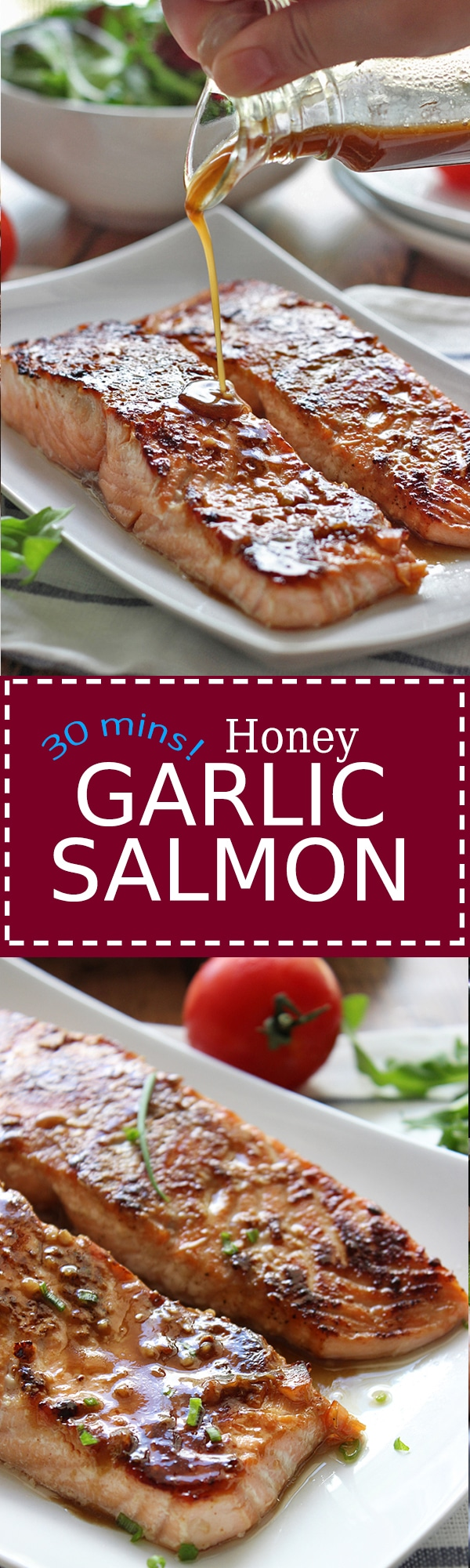 Quick And Easy Honey Garlic Salmon Baked And Ready In Under 30 Minutes  With A