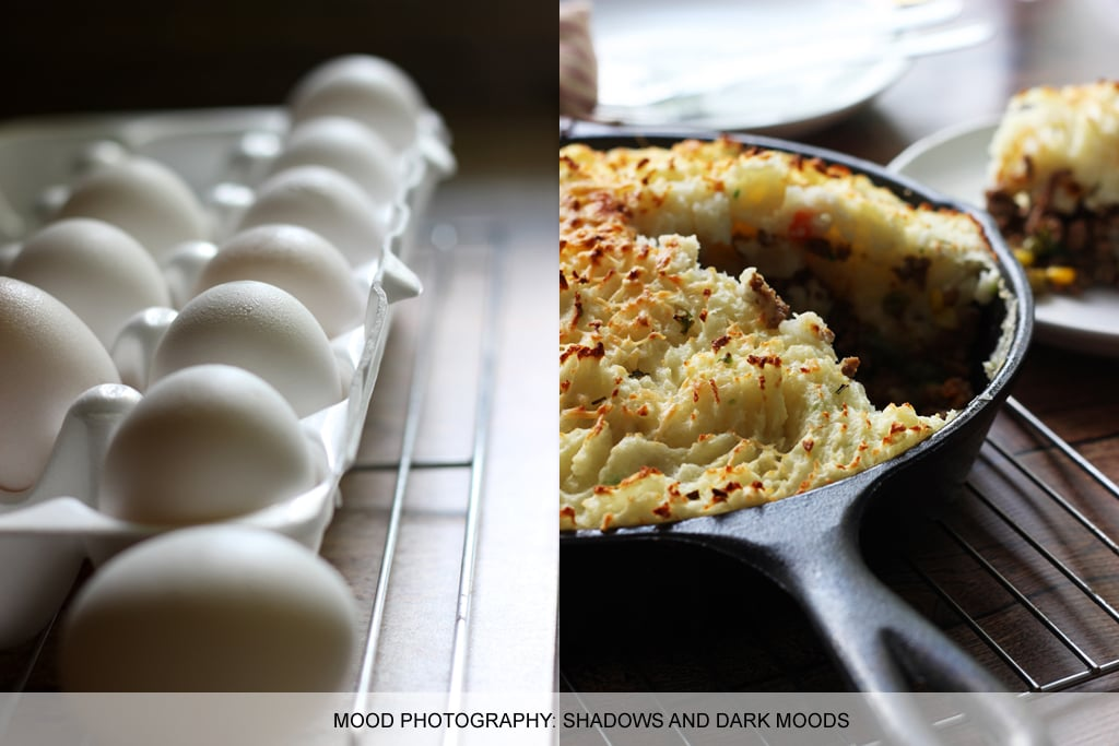 Food photography tips: dark moods