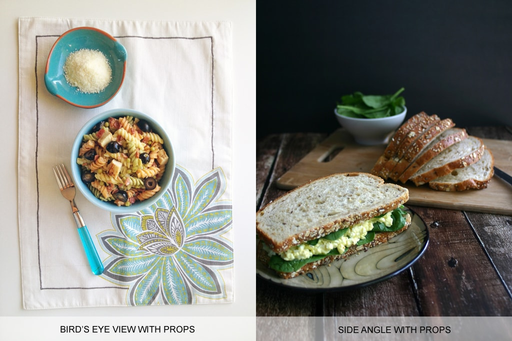 Food photography tips: props for depth