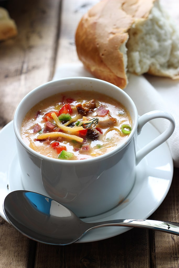Creamy spicy chicken and corn chowder is the perfect soup for fall ...