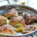 This baked honey lemon chicken is incredibly juicy with crispy skins you won't want to share. Flavored with a delicious honey lemon sauce.