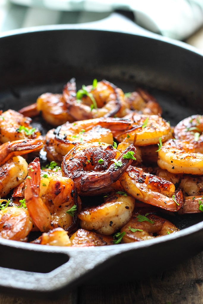 Honey garlic shrimp skillet the cooking jar honey garlic shrimp skillet forumfinder Choice Image