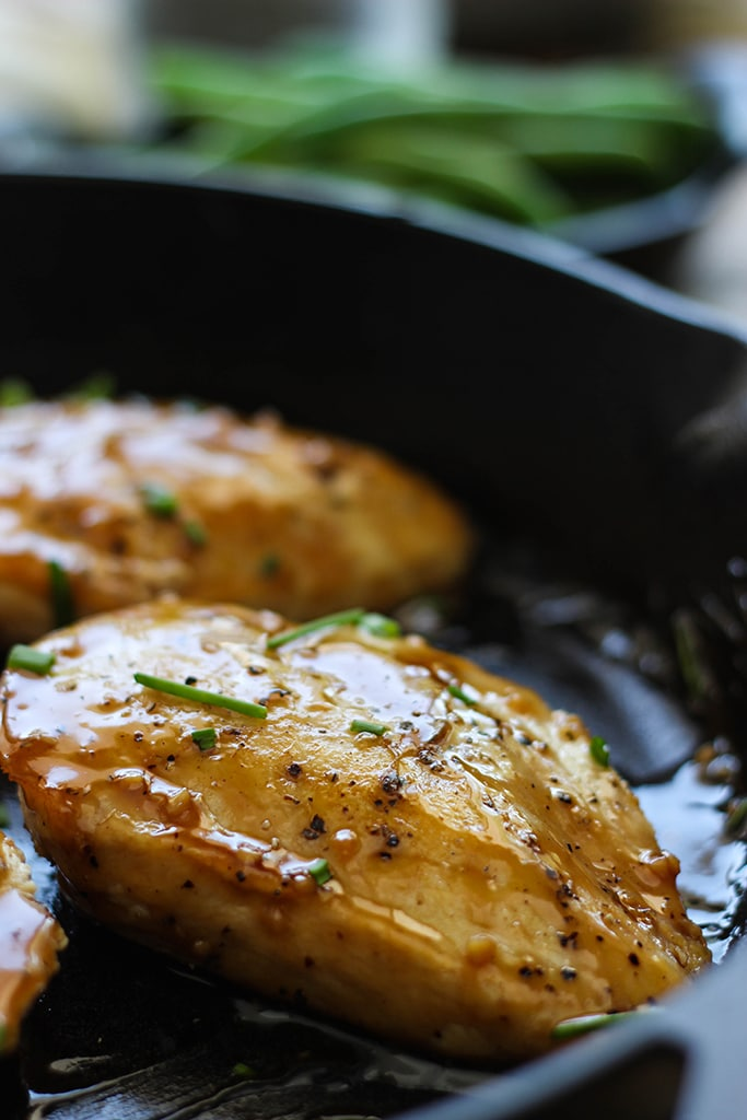Maple glazed chicken is sweet, tangy and full of flavor. With a robust glaze to start your meal and ready in 30 minutes.