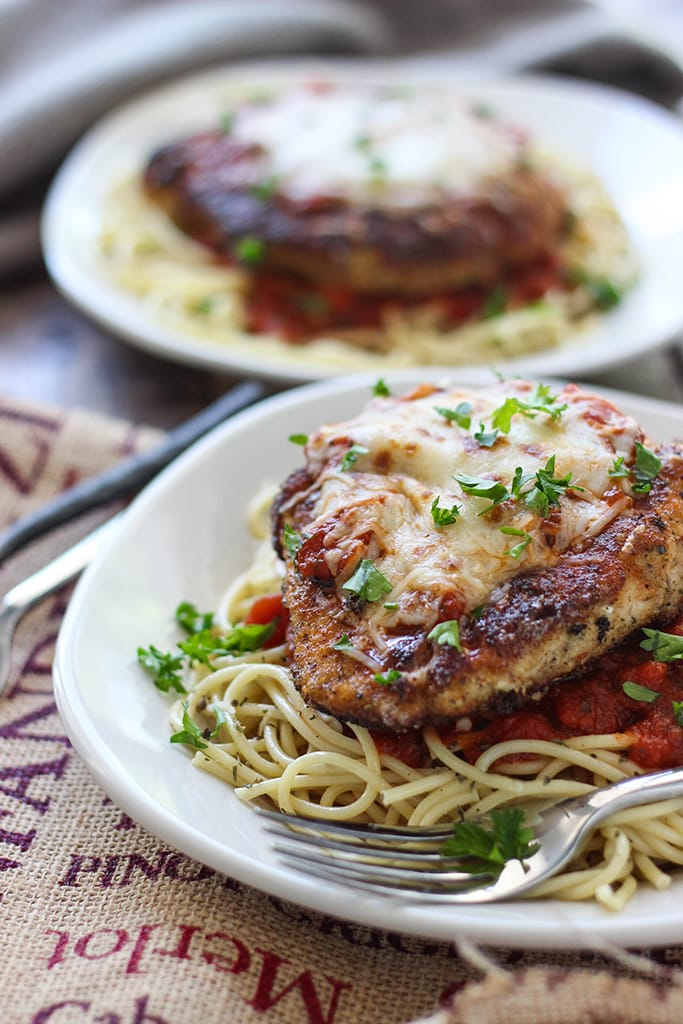 This skillet chicken Parmesan is ready under 30 minutes. With Parmesan ...
