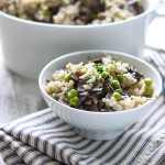 Cheat the time over the stove with this slow cooker mushroom risotto. Creamy, rich and easy!