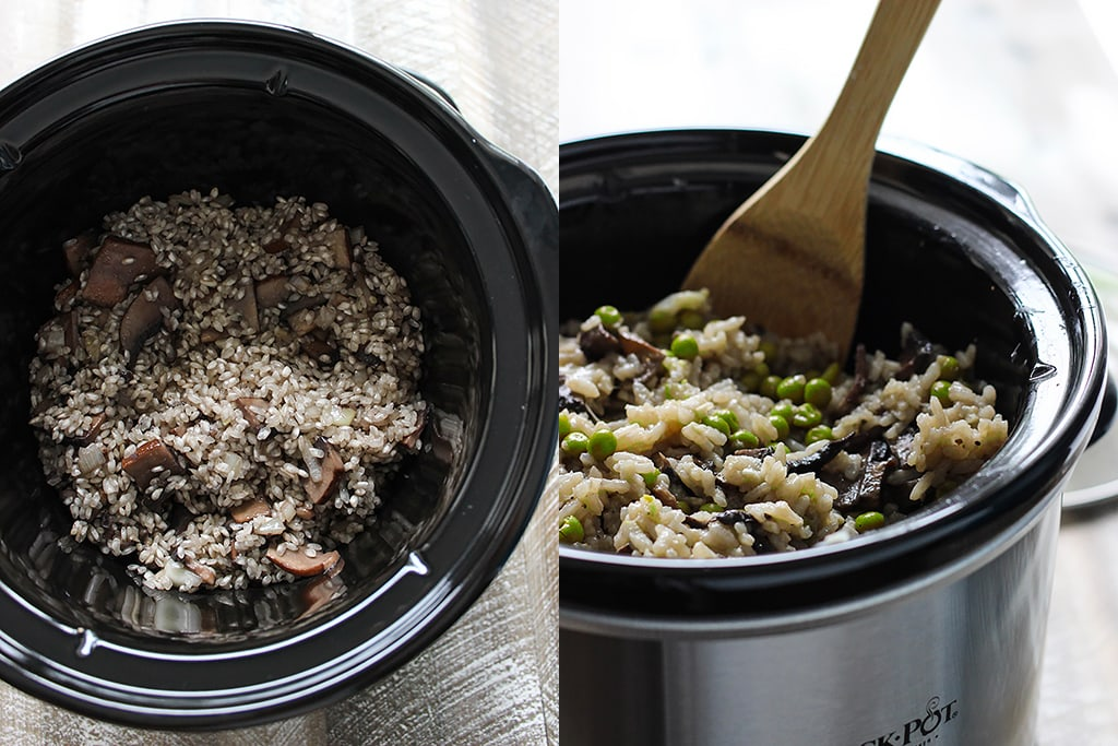 Slow Cooker Mushroom Risotto - The Cooking Jar