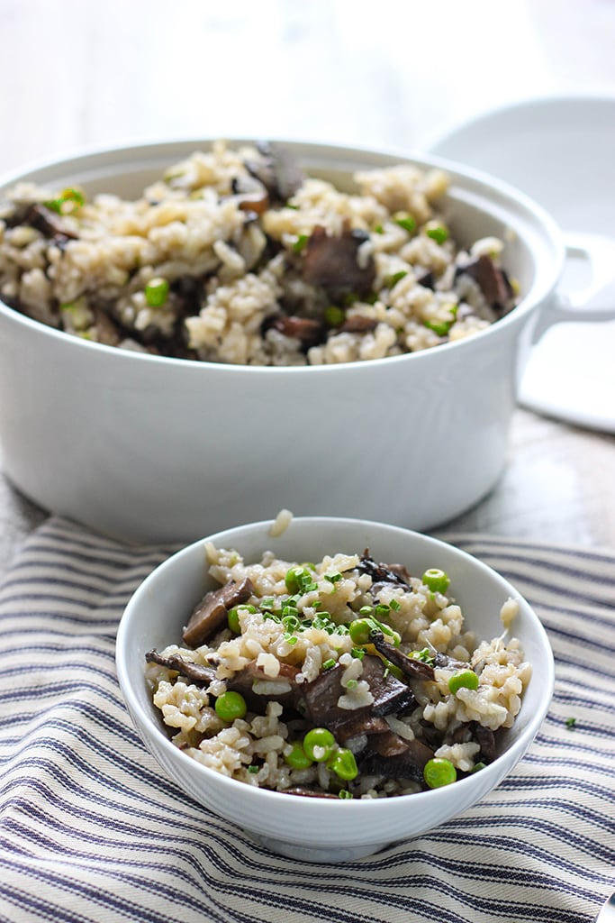 slow cooker risotto mushroom