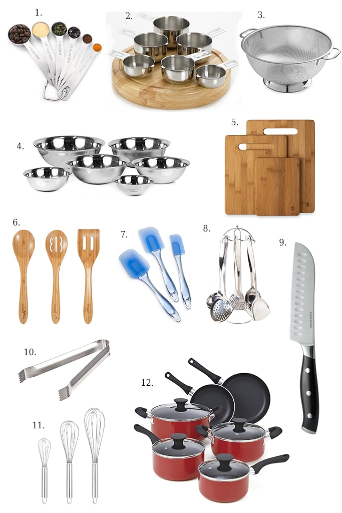 A list of basic kitchen essentials for every kitchen to get you started..