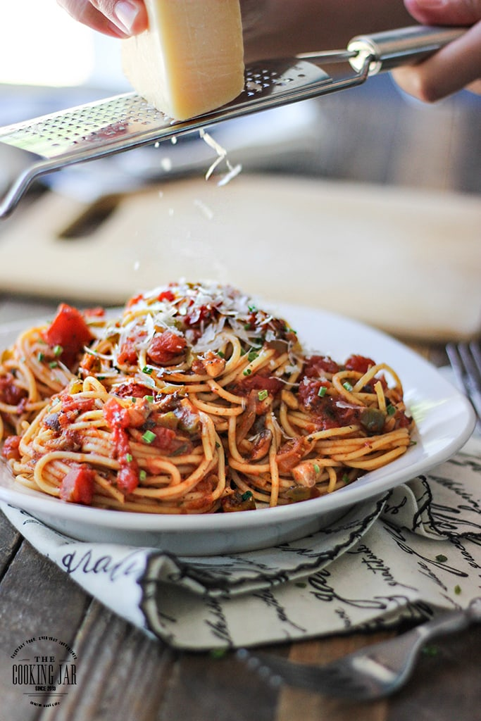 Pasta without meat doesn't have to be boring. This easy vegetable pasta is flavorful and different with a sweet heat pasta sauce everyone will love!