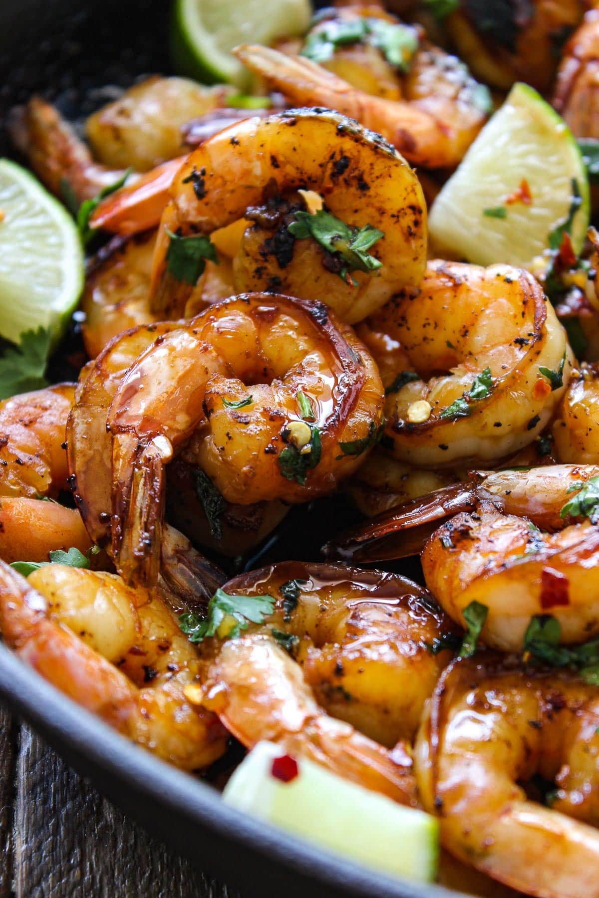 Cilantro lime honey garlic shrimp skillet the cooking jar cilantro lime honey garlic shrimp skillet forumfinder Choice Image